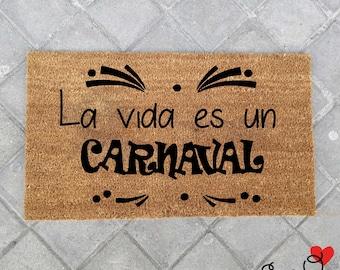 Tapis «la vie est un carnaval»