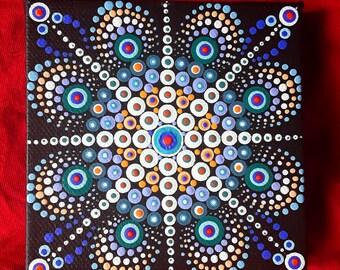 Dotillism art - Daystar Mandala