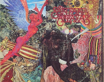 Carlos Santana Abraxas Original Fusion Blues Rock 1970 Colombia Record Vintage Vinyl Record Album LP