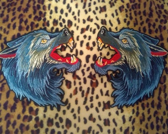 Wolf Patches Gucci Style IRON ON - USA Shipping!