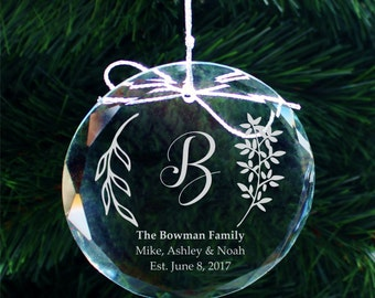 SHIPS FAST, Personalized Family Ornament, Personalized Christmas Ornaments, Holiday Ornaments, Stocking Stuffers, Christmas Gifts -  COR32