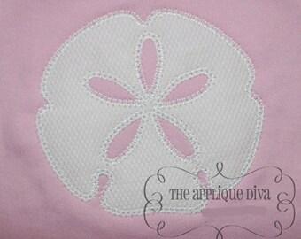 Summer Sand Dollar Embroidery Design Machine Applique