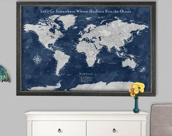 36x48 etsy world map 36x24 world map 36x48 world map vintage canvas world map 48x36 world travel wall gumiabroncs Images