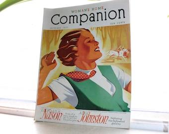 Vintage Woman's Home Companion Magazine October 1937
