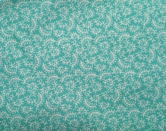 Teal Paisley - Cotton Woven Fabric