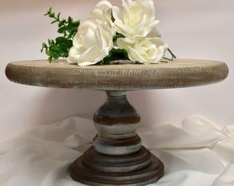 Rustic Cake Tray, Wedding Cake Pedestal, Cake Tray, Display Tray, Farmhouse Tray, Centerpiece Tray, Wooden Tray, Pedestal Tray, Round Tray