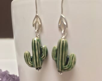 Cactus earrings.