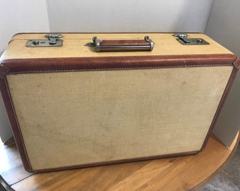 "Vintage Liebermann Trunk Co. Saginaw, Mi.-21"" Travel Suitcase"