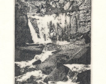 WILD WATER original zinc plate photo etching print signed and numbered