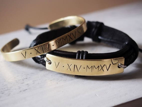 Engraved Couples Bracelet Matching Couple Bracelets