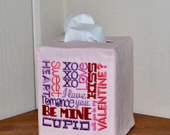 Words of Love Tissue Box Cover