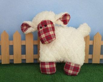 super soft handmade plush sheep