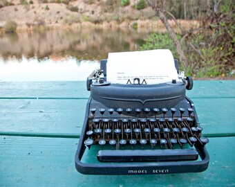 Darling - 11x14 Photographic Print - Landscape - Vintage Typewriter - Home Decor