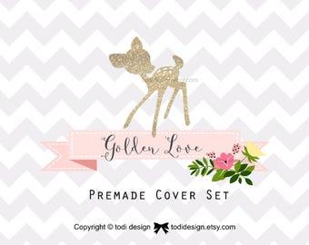 Golden Love Etsy Cover Set -Spring Deer