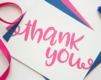 Thank You Notes | Thank You Note Cards | Women's Thank You Notes | Bridal Shower Thank You Notes | Girls Thank You Notes | Social Stationery