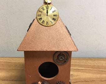 PROTOTYPE Custom Made Steampunk Birdhouse PROTOTYPE