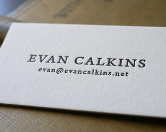 The Scholar – Custom Letterpress Printed Calling Cards 100ct