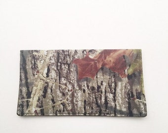 Mossy Oak,  Camouflage, Duplicate Checkbook Cover, Checkbook Cover for Men Checkbook Register, Gift,  L Miller Creations