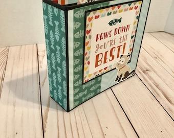 Handmade Scrapbook Mini Album PAWS DOWN You're the BEST!