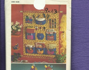 1972 Simplicity 5233 Sewing Room Wall Organizer  and Sewphie the Bird Pincushion  UNCUT