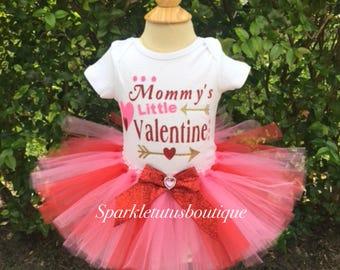 Mommy's Little Valentine's Tutu Set