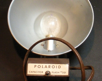 Polaroid Camera Flash Attachment With Bulb