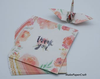 Origami Paper Sheets White Thank You Paper Pack Size : 9 x 9 cm 48-50 sheets Origami Paper Crane