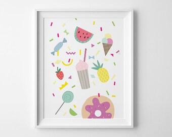 Kids room decor, best selling items, nursery wall decor, milkshake print kids print playroom decor nursery print mini learners digital print