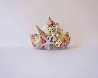 Mermaid headdress, mermaid crown, mermaid tiara, mermaid costume, seashell headdress