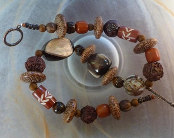 SALE PRICE!!!!! - Brown Forest, Natural Beads, Fall Colors,
