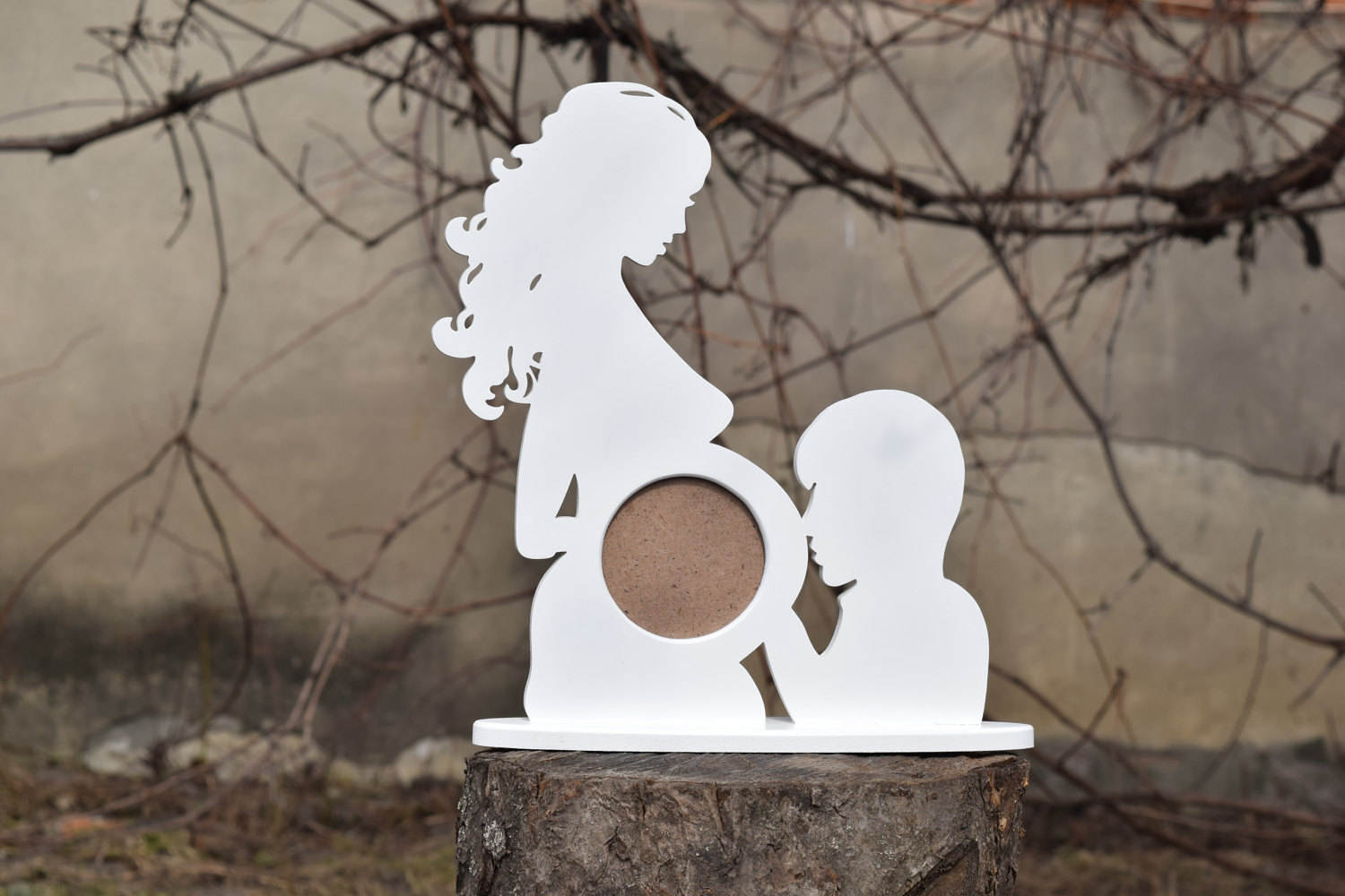 First photo ultrasound sonogram wood picture frame silhouette description first photo ultrasound sonogram wood picture frame jeuxipadfo Image collections