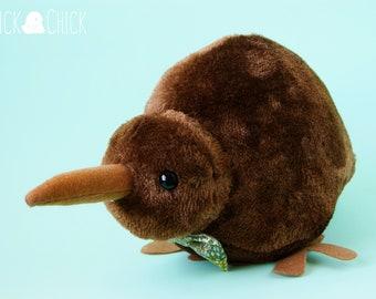 Kiw Tie brown, kiwi bird plush