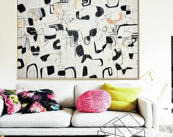 """abstract painting 72""""x40""""  original Painting Abstract Painting large Painting textured Painting from Jolina Anthony"""