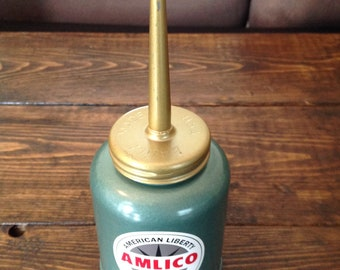 Vintage Amlico American Liberty Oil Company Eagle Enameled Oiler New Old Stock