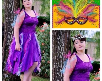 Adult Fairy Halloween Costume  ~ Woman's Fun Birthday  Party Dress ~ Theatre ~Mardi Gras ~ Carnival ~ Festival