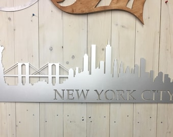 New York City Skyline Metal Decor