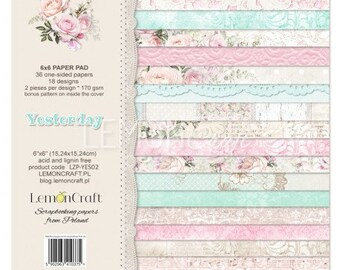 Lemoncraft Yesterday 6x6 Designer Scrapbook Paper
