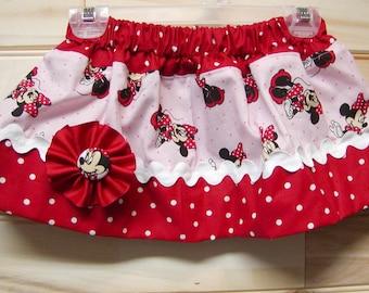 Only One Left Custom Girls skirt, infant, toddler..Minnie Inspired..1/2