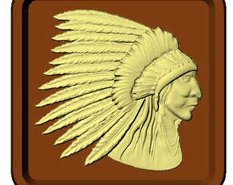 Chief's Head Chocolate Candy Mold with Exclusive FlavorTools Copyrighted Chocolate Molding Instructions 90-15731