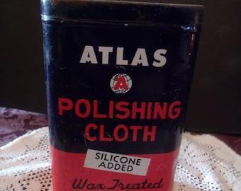 Vintage Atlas Polishing Cloth Tin (# 472/16)