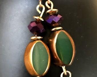 Mardi Grasi Color Earrings