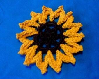 Sunflower crochet pattern pdf instant download