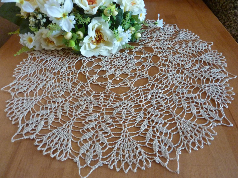 Grand Napperon Au Crochet concernant napperon en crochet crochet napperons serviettes linge de