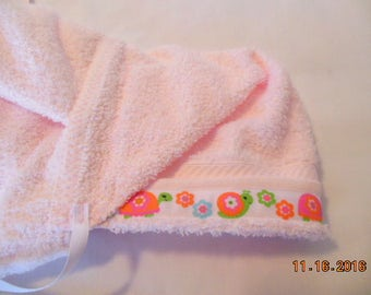 Girls  Hooded Terry Cloth Baby/Toddler Bath Towel