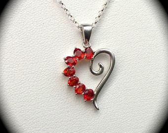"Genuine Ruby Pendant and Chain 925 Sterling Silver ""CERTIFIED"" - Exquisite Rubies!"