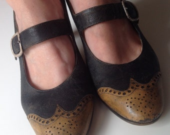 50s two tone mary janes France