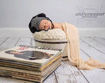 Newborn Boy Chunky Mr. DJ Music Beanie Hat - Made to Order