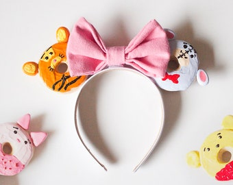Mix & Match Winnie the Pooh and Friends Donut ears / Pooh Piglet Eeyore Tigger