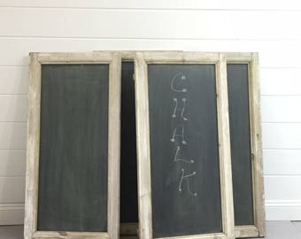 SOLD   Antique French Window frame Chalkboard (s) (repurposed into chalkboards), Springfield VA Pick Up  SOLD
