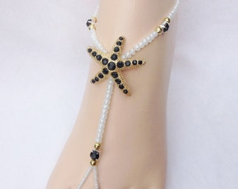 Foot Jewelry Starfish Barefoot Sandal Bridal Beach Wedding